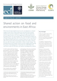 Shared action on food and environments in East Africa. Click for the brief.