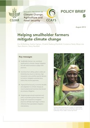 Helping smallholder farmers mitigate climate change