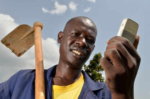 Mobile phones to delivery climate services: climate change agriculture and food security