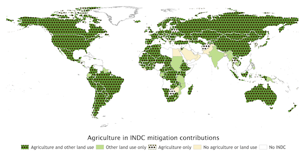 Agriculture in INDC mitigation contributions