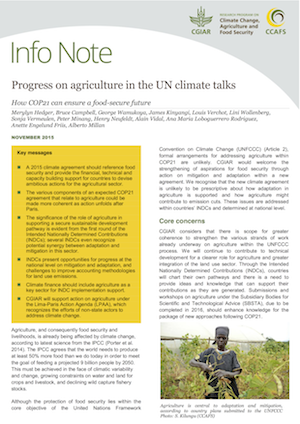 Progress on agriculture in the UN climate talks