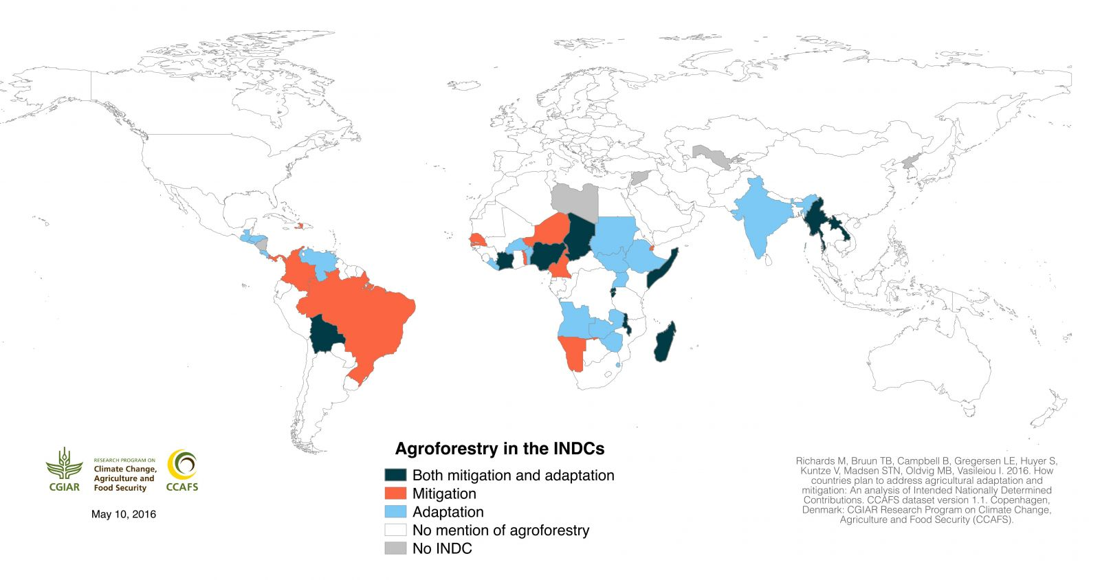 Agroforestry in the INDCs (click to enlarge)