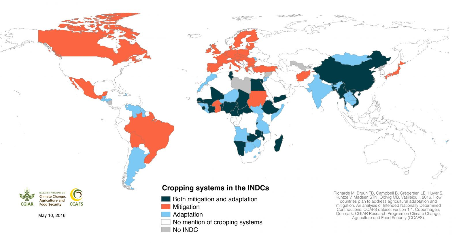 Cropping systems in the INDCs (click to enlarge)