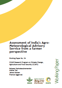 Assessment of India's Agro-Meteorological Advisory Service from a farmer perspective