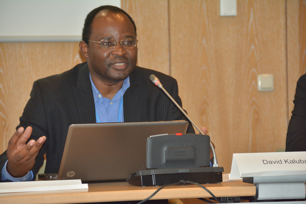 David Kaluba, Zambia Ministry of Finance, CIAT side event at SB40