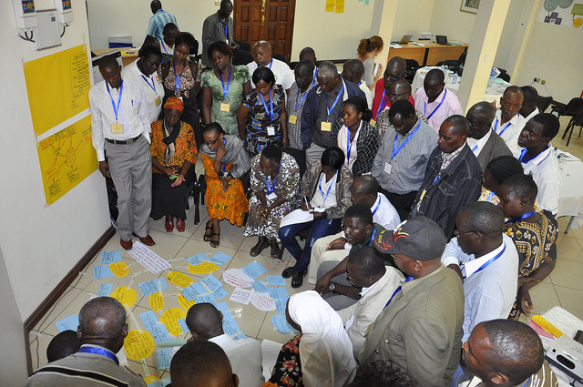 Participants at an outcome mapping workshop in Kisumu, Kenya