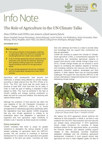 Info note: The Role of Agriculture in the UN Climate Talks