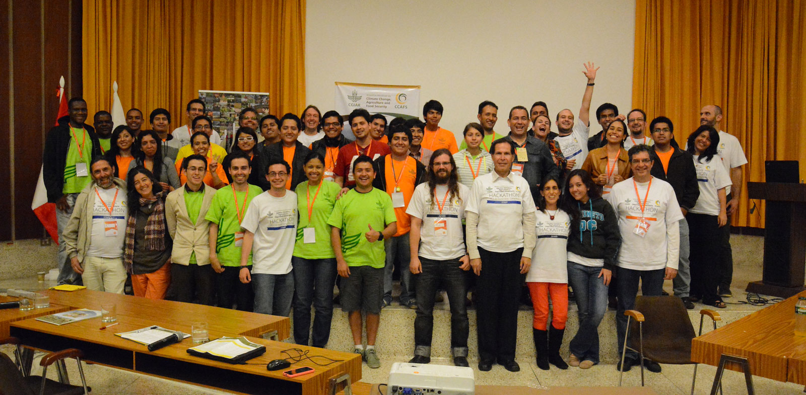 Hackathon programmers and designers hatched innovative solutions to feed the world during an event at COP20 in Lima, Peru