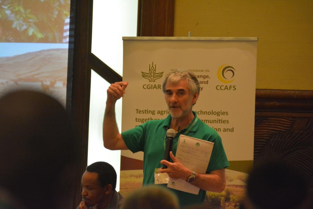 Chris from Practical Action during #CBA9