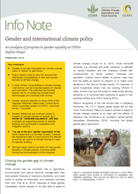 Gender and international climate change policy