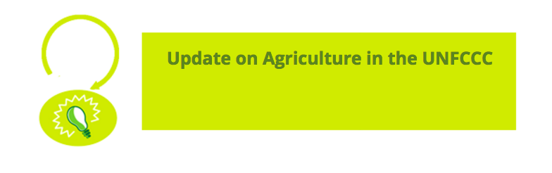 UNFCCC Toolkit: Update on Agriculture in the UNFCCC
