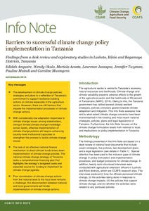Barriers to successful climate change policy implementation