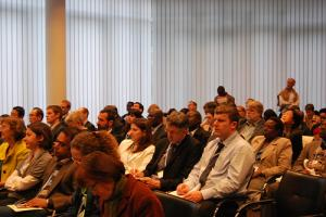 CCAFS side event was held in front of a fullpacked audience. Photo: C. Schubert (CCAFS)