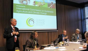 The panel at the commission event