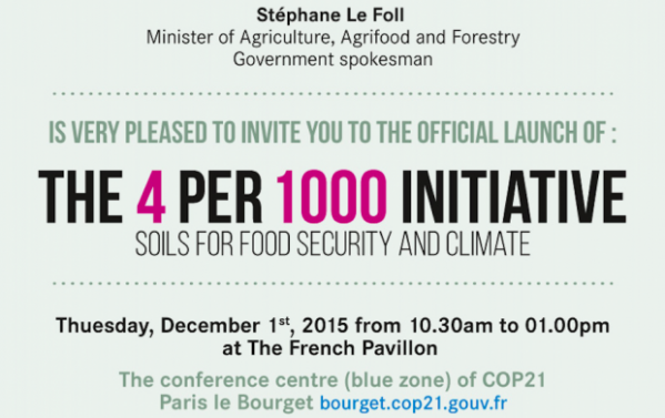 4 Per 1000 Initiative: Soils for Food Security and Climate