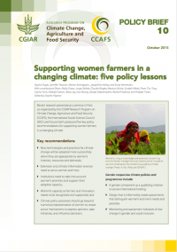 Supporting women farmers in a changing climate: five policy lessons