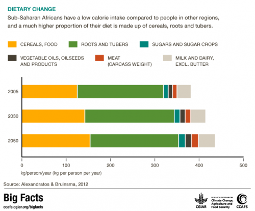 sub-saharan africa diet change climate change ccafs big facts