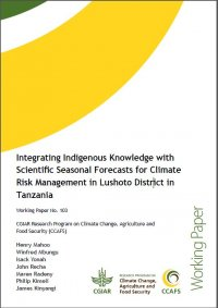 Integrating Indigenous knowledge with scientific forecasts for climate risk management in Lushoto, Tanzania