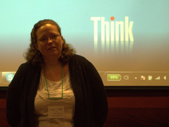 CIAT's Gender Specialist Jennifer Twyman. Photocredit: Gian Betancourt (CIAT)