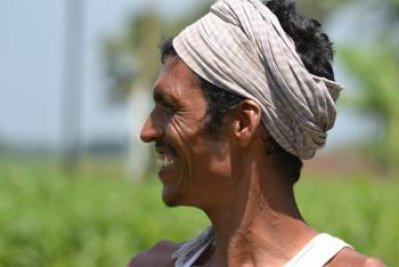 Farmer participating in the climate-smart village project in India. Photo: V.Reddy (ViDocs)
