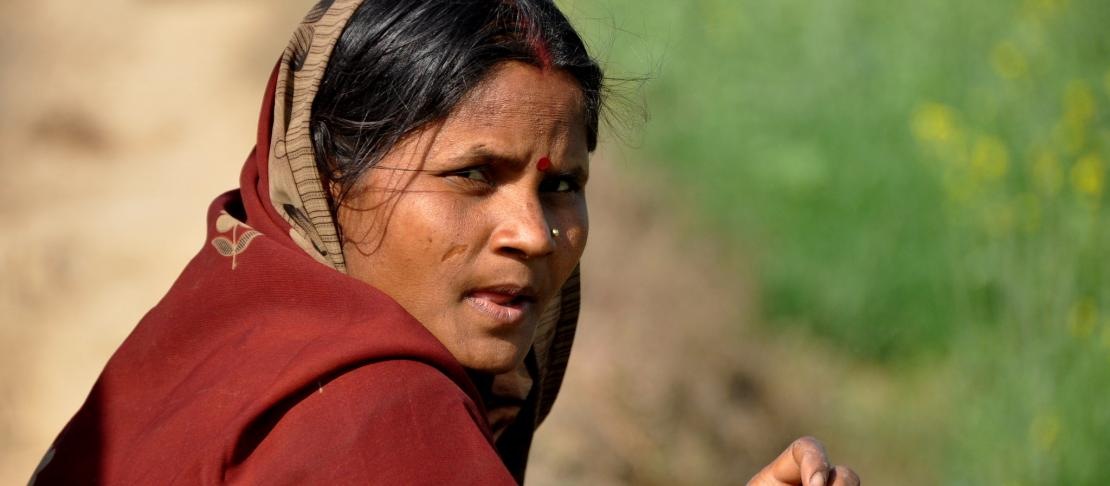Woman from rural India in Jamnapur, Bihar.